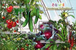 North Korea - 2020 - Greenhouse Vegetables - Mint Souvenir Sheet - Corea Del Nord
