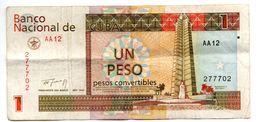 Cuba / 1 Pesos Convertible 1994 / TB - Cuba