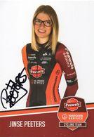 Cyclisme, Jinse Peeters, Signé - Radsport