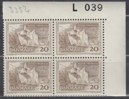 DÄNEMARK  408 Y, 4erBlock, Eckrand Rechts Oben, Postfrisch **, Natur- Und Denkmalschutz 1962 - Nuovi