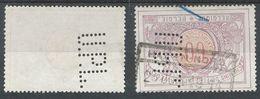 BELGIQUE - 1914/06/26 - Chemins De Fer - Oblitere - 1895-1913