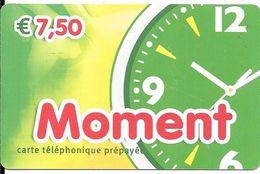 CARTE-PREPAYEE-7,5€-MOMENT-Exp01/01/2015-Plastic Fin-Gratté-TBE-RARE     - - France