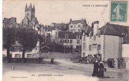CPA 29 @ QUIMPERLE - La Place Et La Maison Fondée En 1780 Devant L'attelage @ Edition Andrieu N° 871 - Quimperlé