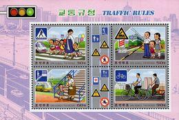 North Korea - 2020 - Traffic Rules - Mint Souvenir Sheet - Korea, North