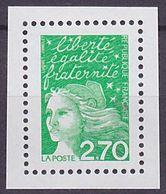 Timbre Neuf ** N° 3091a(Yvert) France 2001 - Marianne Du 14 Juillet 2,70 F Vert, Sans Phosphore - 1997-04 Marianne Of July 14th