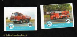 BRD - Privatpost - Nordkurier - 2 W - Feuerwehr Fire - Tankwagen Tatra 815 Und Leiterwagen In Bergen (N) - Private & Local Mails