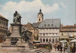 D-97421 Schweinfurt - Marktplatz Mit Rückert- Denkmal - Büssing Bus - Monuments