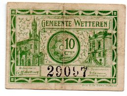 Belgique / 10 Centimes 1918 / Ville De Wetteren / TB+ - Sonstige