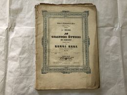 SPARTITO MUSICALE HENRY HERZ 18 GRANDES ETUDES DE CONCERT. - Partitions Musicales Anciennes