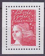 Timbre Neuf ** N° 3083a(Yvert) France 2001 - Marianne Du 14 Juillet Rouge, Sans Phosphore - 1997-04 Marianne Of July 14th