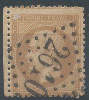 Lot N°56854    Variété/n°21, Oblit GC 2610 Narbonne, Aude (10), Piquage - 1862 Napoleon III