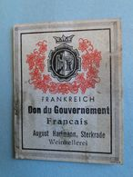 "Guerre 39-45 - Vignette "" Frankreich  Don Gouvernement Français "" - August Hartmann Weinkellerei à Sterkrade Auberhausen - 1939-45"