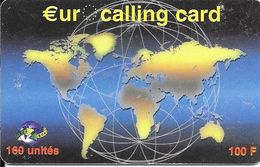 CARTE-PREPAYEE-100FRS-E.C.C-Exp 30/04/2001-Plastic Epais-Gratté-BE-RARE     - - France