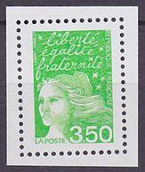 Timbre Neuf ** N° 3092a(Yvert) France 2001 - Marianne Du 14 Juillet 3,50 F Vert-jaune, Sans Phosphore - 1997-04 Marianne Of July 14th