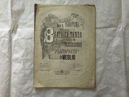SPARTITO MUSICALE VINCENZO BELLINI BEATRICE DI TENDA ROMANZA VINCENZO DE MEGLIO - Partitions Musicales Anciennes