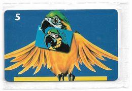 Denmark - Tele Danmark (chip) - Parrots - TDP179 - 06.1999, 1.500ex, 5kr, NSB - Danemark