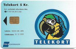 Denmark - Tele Danmark (chip) - Her Bestiller Du Telekort - TDP307 - 04.1999, 5.100ex, 5kr, Used - Danemark