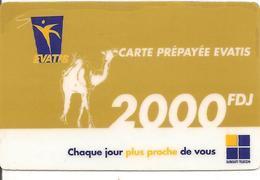 CARTE-PREPAYEE-EVATIS-DJIBOUTI-2000FDJ-06/08/2011-TBE - Djibouti
