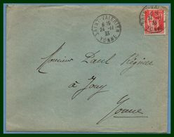Saint Valérien Yonne 89 Type A4 1933 /  Paix - Marcophilie (Lettres)