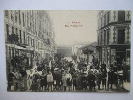 PARIS  -  RUE  MONTGALLET  -    GRANDE  FOULE  ,  ECOLIERS  .....    TTB - France