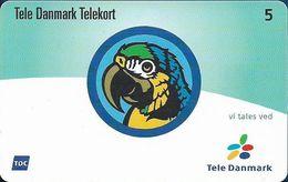 Denmark - Tele Danmark (chip) - Parrot, Visiting Card (No Name) - TDP361 - 09.2002, 2.400ex, 5kr, Used - Danemark