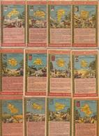 LOT De 44 CHROMOS - Publicité CHOCOLATERIE DU RHONE - Géographie Universelle France Colonies Et Monde Entier - Schokolade