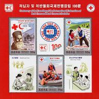 North Korea - 2019 - Centenary Of Red Cross Foundation - Mint Souvenir Sheet - Korea, North