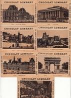 LOT De 11 CHROMOS - Publicité CHOCOLAT LOMBART - Monuments De Paris - Lombart