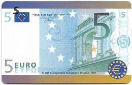 Denmark - Tele Danmark (chip) - 5 Euro Banknote - TDP208 - 12.1999, 1.300ex, 5kr, Used - Danemark