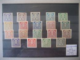 Österreich 1920/21- Zeitungmarken, Mi. Nr. Und ANK 293-311** Postfrisch - Zeitungsmarken