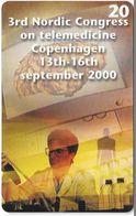 Denmark - Tele Danmark (chip) - 3rd Nordic Congress - TDP350 - 08.2000, 600ex, 20kr, Used - Danemark