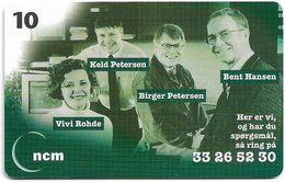 Denmark - Tele Danmark (chip) - Ncm Ekr Kreditforsikring - TDP301 - 03.1999, 1.100ex, 10kr, Used - Danemark