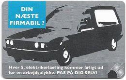Denmark - Tele Danmark (chip) - Dansk El-forbund, Car - TDP363 - 09.2003, 3.100ex, 5kr, Used - Danemark