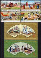 North Korea - 2019 - Korean Folk Customs - Mint Stamp Set + 2 Souvenir Sheets - Corea Del Nord