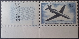 R1337/300 - 1959 - POSTE AERIENNE - CARAVELLE - N°40 (pliure) CdF TIMBRE NEUF** CD 25.11.59 (1er TIRAGE) - Airmail