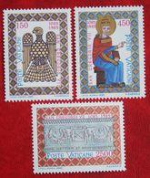 900. Todestag Von Papst Gregor VII 1985 Mi 873-875 Yv 776-778 VATICANO VATICAN VATICAAN - Vatican
