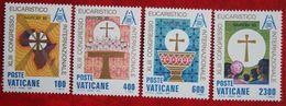 3rd. Int. Eucharistic Congress 1985 Mi 876-879 Yv 779-782 VATICANO VATICAN VATICAAN - Vatican