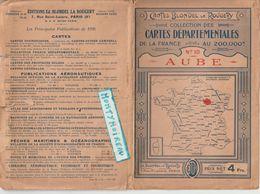 V P :  Carte  Blondel  La Rougery :  Numéro 10 ; L' AUBE ( Traoyes, Romilly Sur Seine, Bar Sur Seine, Arcis, Brienne, Vi - Cartes Routières
