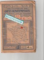 V P :  Carte  Blondel  La Rougery :  Numéro 10 ; La Marne ; Reims, Ay , Montmirail, Ste Menehould, Fismes, Vitry Le Fran - Cartes Routières
