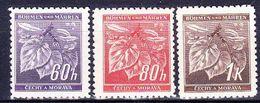 Boheme Et Moravie 1941 Mi 65-7 (Yv 44-6), (MNH)** - Bohême & Moravie