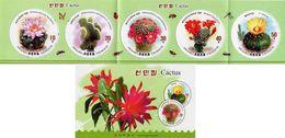 North Korea - 2019 - Cacti - Mint Stamp Booklet - Corea Del Nord
