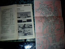 Allemagne Vieux Papiers Dépliant Touristique 39 Pages Livret  Avec Plan Berlin 1981 - Dépliants Touristiques
