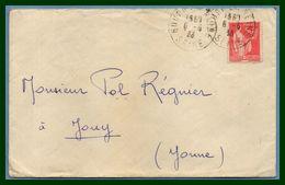 Bourg La Reine Seine Type A4 1933  /  Paix (écrite Verso) - Marcophilie (Lettres)