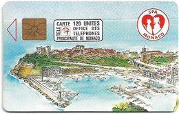 Monaco - MF23 (009) - Protectrice Des Animaux - Cn. P0009, Gem1A Symmetr. Black, 04.1992, 120Units, 110.000ex, Used - Monaco