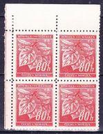 Boheme Et Moravie 1941 Mi 66 (Yv 45), (MNH)** Bloc De 4-coin De Feuille - Bohême & Moravie