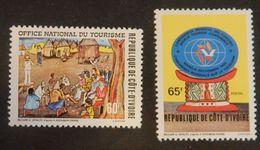 COTE D IVOIRE YT 547/548 NEUFS TOURISME ANNÉE 1980 - Ivoorkust (1960-...)