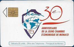 Monaco - MF28 (B) - Chambre Economique - Cn. B3411731 B, Gem1A Symmetr. Black, 05.1993, 50Units, 20.000ex, Used - Monaco