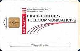 Monaco - MF31 (011) - Direction Des Telecomm. - Cn. 011, Gem1A Symmetr. Black, 12.1993, 50Units, 100.000ex, Used - Monaco