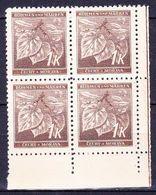 Boheme Et Moravie 1941 Mi 67 (Yv 46), (MNH)** Bloc De 4-coin De Feuille - Bohême & Moravie