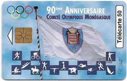 Monaco - MF44A - Comité Olympique, Gem1B Not Symmetr. Red, 04.1997, 50Units, 52.000ex, Used - Monaco